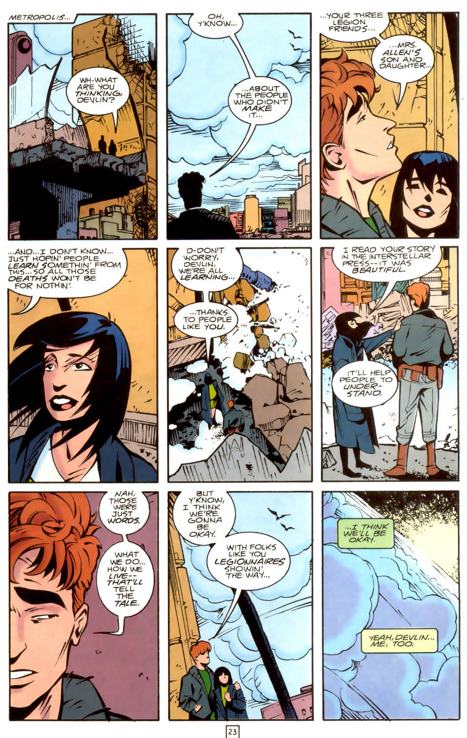 Legion of Super-Heroes (1989) 36 Page 23