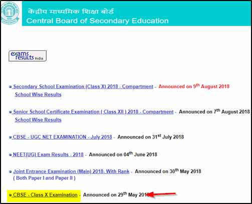 Class 10 Result- Check CBSE Result