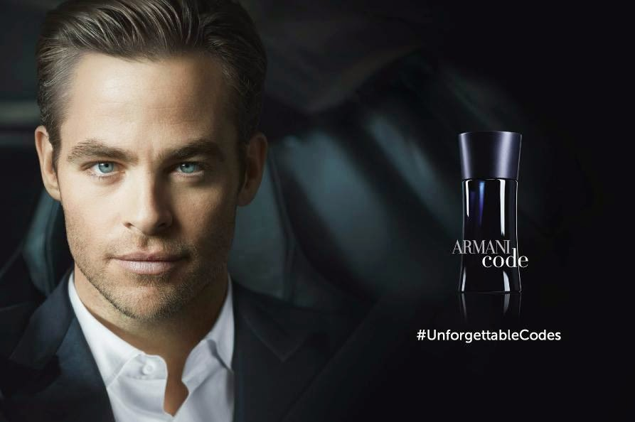 Chris Pine is the face of the Armani Code Spring 2014 Campaign