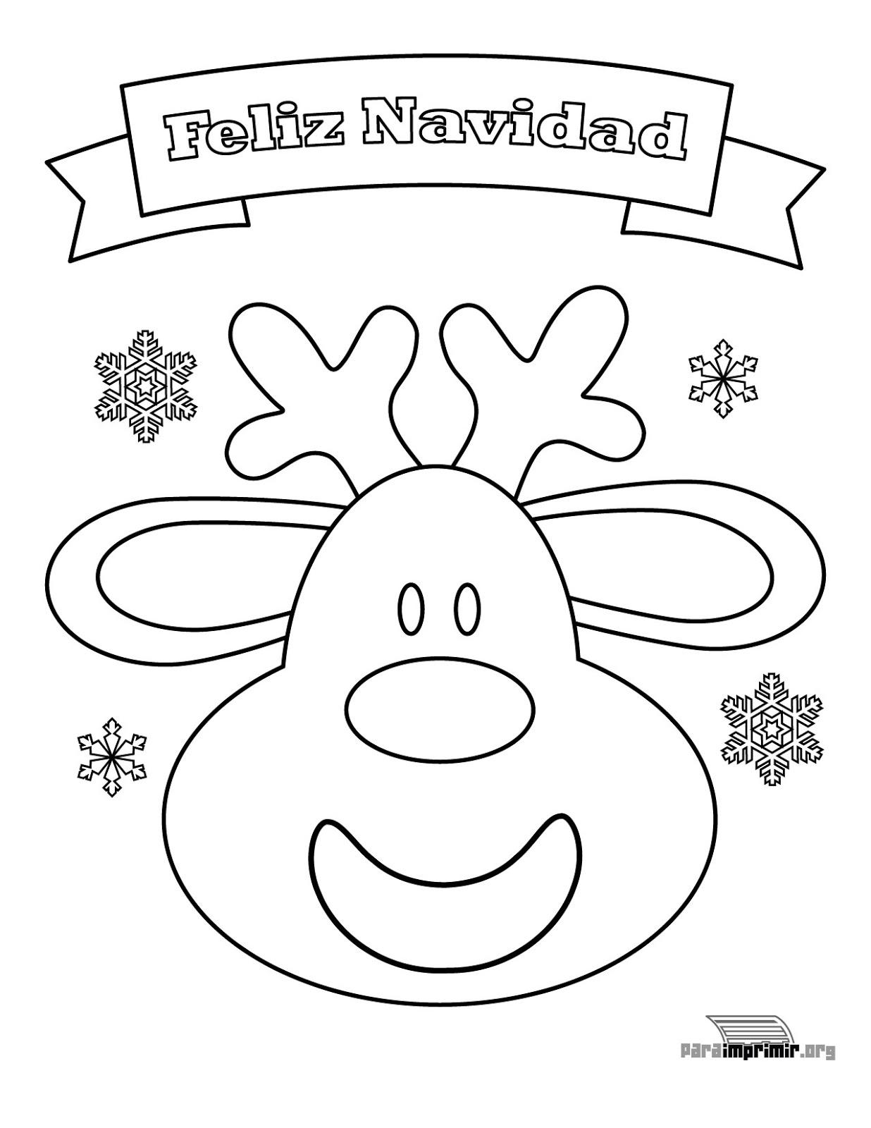 20 Dibujos navideñas para colorear - IMÁGENES CON FRASES © CORTAS DE ...
