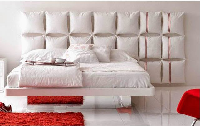 Bed Headboards Use Cushions To Make A Single Bed