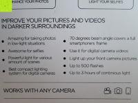 Information: LIHAO Iblazr LED Blitz Mini Flash für Smartphone und Kamera 4 Leds (Weiß)