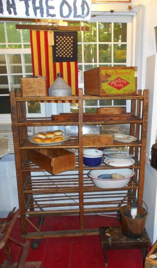 Log Cabin Antiques Gifts Wooden Shoe Rack On Wheels
