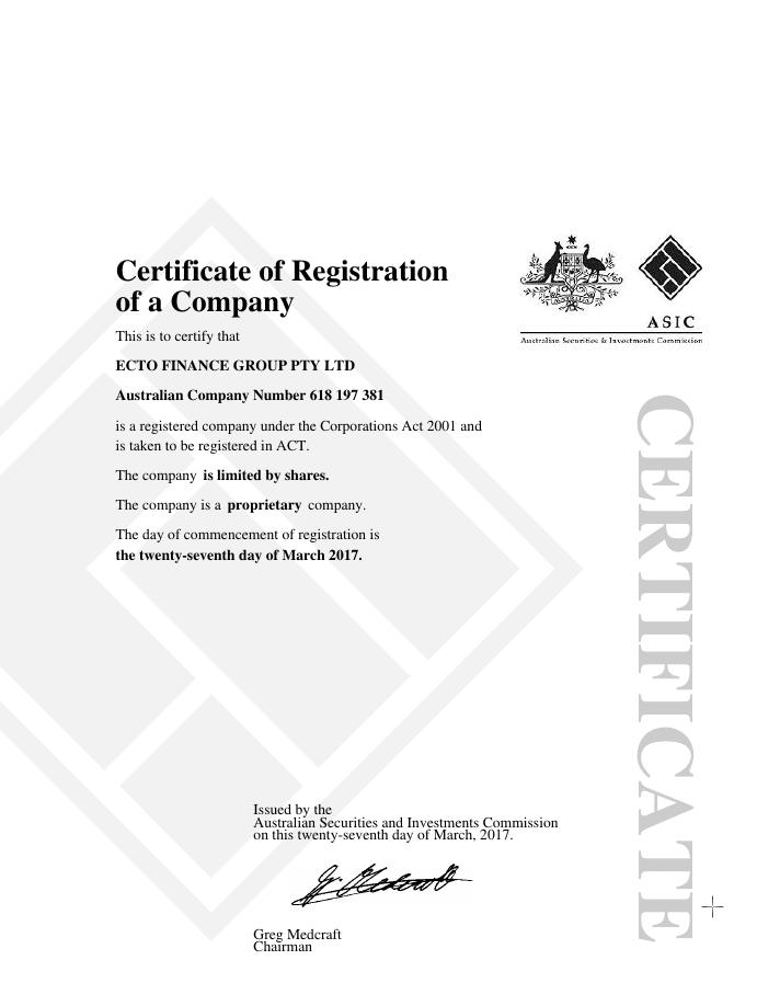 Сертификат EctoTrust