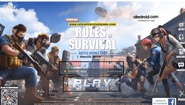 Mulai Main Gamenya  ROS Rules Of Survival di PC Komputer Laptop