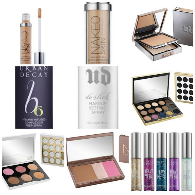 Photo of the items in my Urban Decay Wishlist
