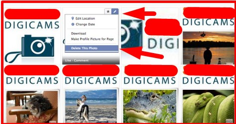 how to remove a photo from facebook post