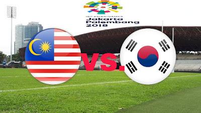 Live Streaming Malaysia vs South Korea Sukan Asia 17.8.2018