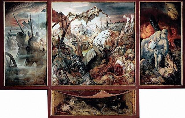 Resultado de imagem para triptico guerra otto dix