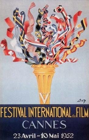 1952 cannes festival de film poster