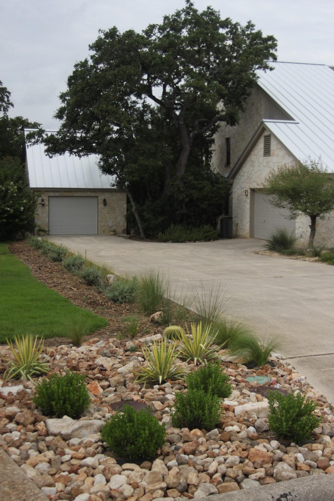 Rock-Oak-Deer: Driveway Landscaping Completed
