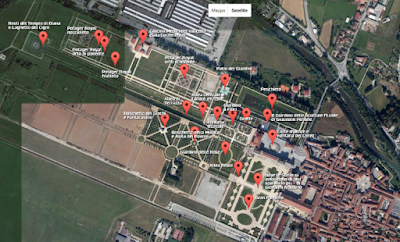 Mappa Reggia di Venaria - Giardini
