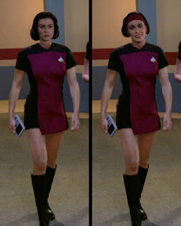 Ensign Ro wearing TNG skant uniform