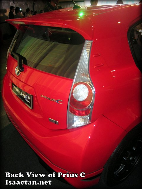 The Back View of Toyota Prius C