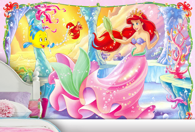 The beautiful ariel wall mural the little mermaid wall mural for Ariel wall mural