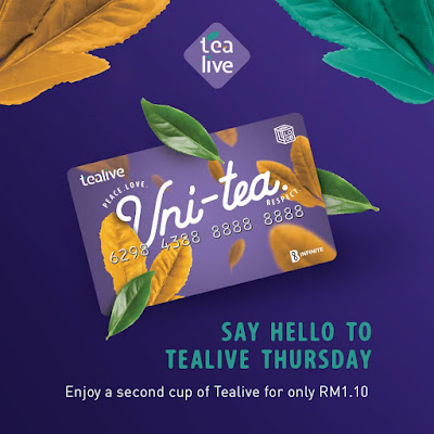 Tealive Asia Loyalty Card Member Second Cup RM1.10 Every Thursday
