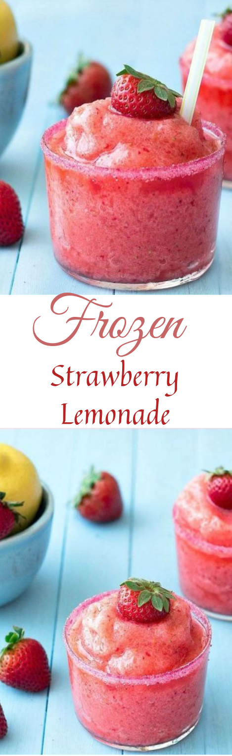 FROZEN STRAWBERRY LEMONADE #drink #lemonade