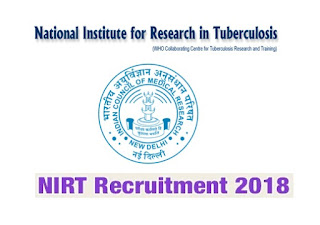 NIRT Chennai Career 2018 Technical Assistant Posts