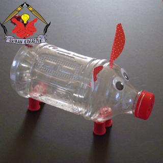 celengan babi dari botol