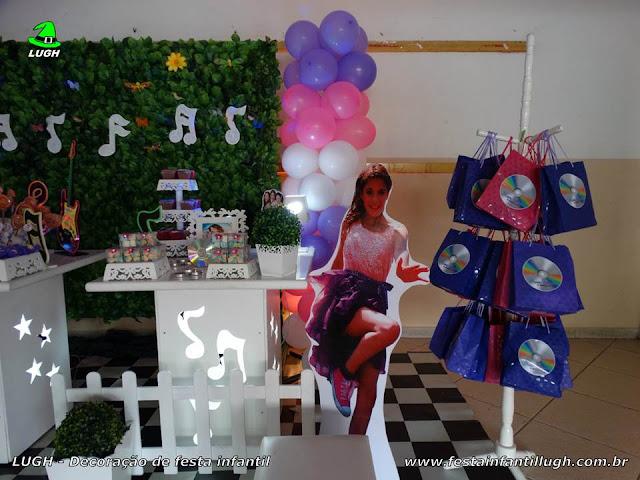 Violetta - Decoração de festa infantil Violetta