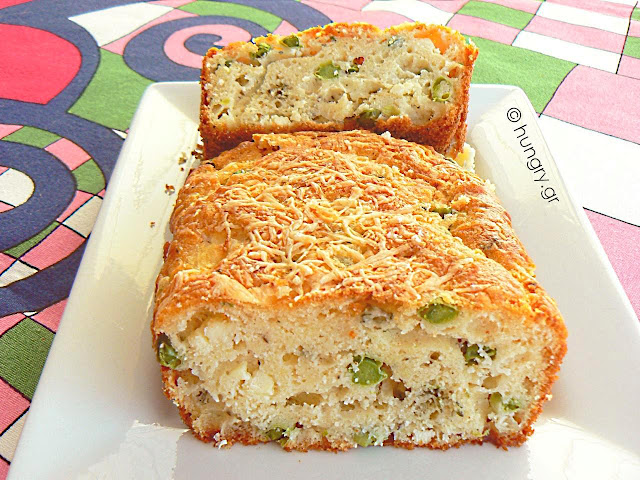 Feta Cheese Cake with Peas