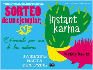 ¡SORTEO!: Instant Karma de Wendy Davies