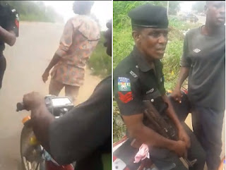 Video of Police Officer Caught on Camera Refusing N100 As Bribe In Badagry