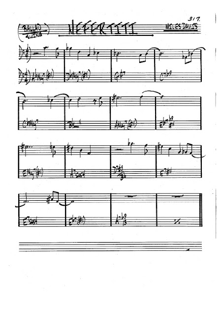 Partitura Bajo Miles Davis