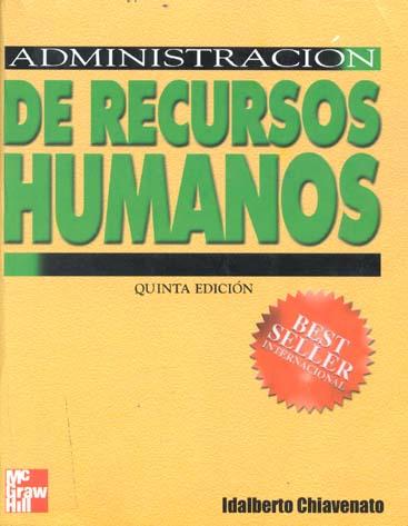 Resultado de imagen para administracion de recursos humanos chiavenato 5 edicion