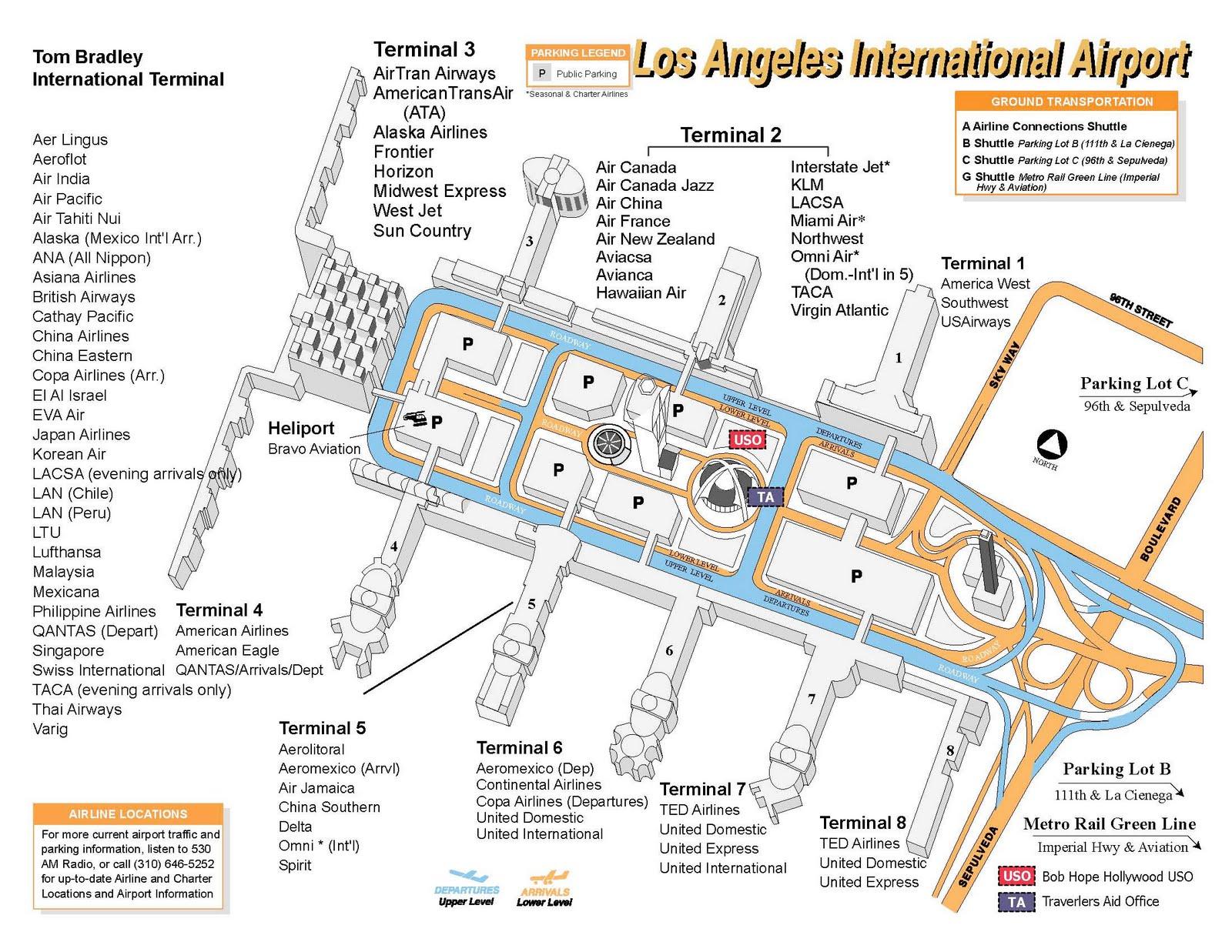 全球機場轉機資訊: 洛杉磯機場 LAX
