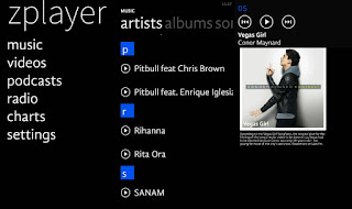 best music player zplayer with metro UI