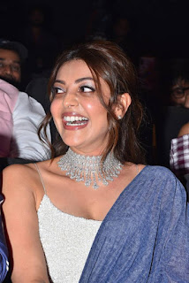 Kajal Agarwal Looks Stunning in a Blue Lehenga Sleeveless Shoulder less Choli