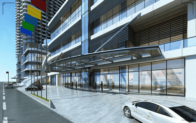 Sảnh toà nhà dự án La Luna Nha Trang