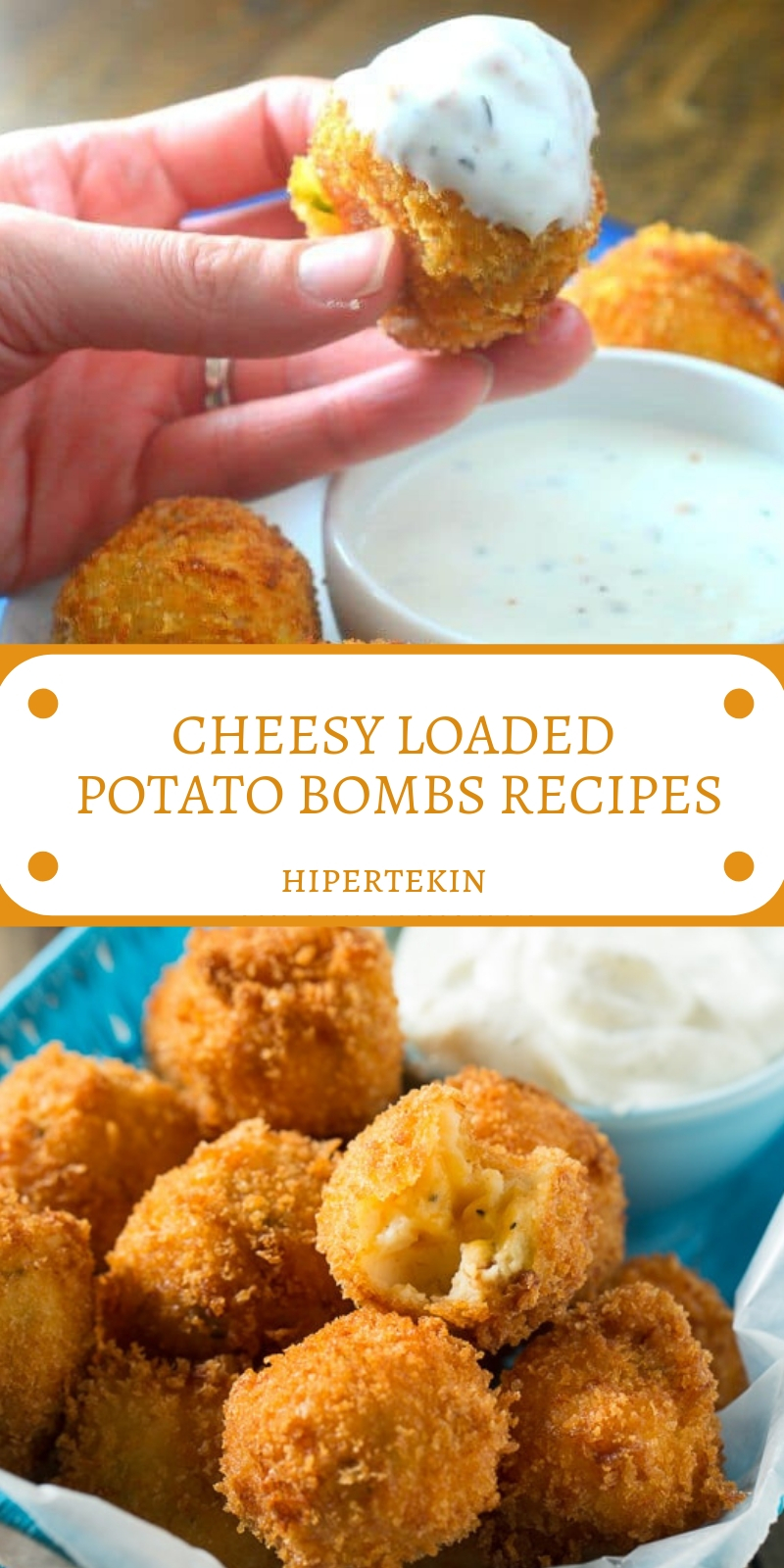 CHEESY LOADED POTATO BOMBS RECIPES