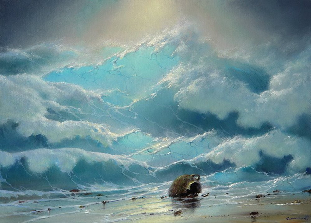 Cuadros modernos cuadros de marinas borrascosas pinturas for Cuadros de marinas