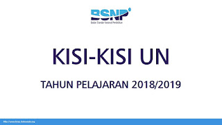 Kisi -Kisi Ujian Nasional IPA SMP/MTS Tahun Pelajaran 2018/2019