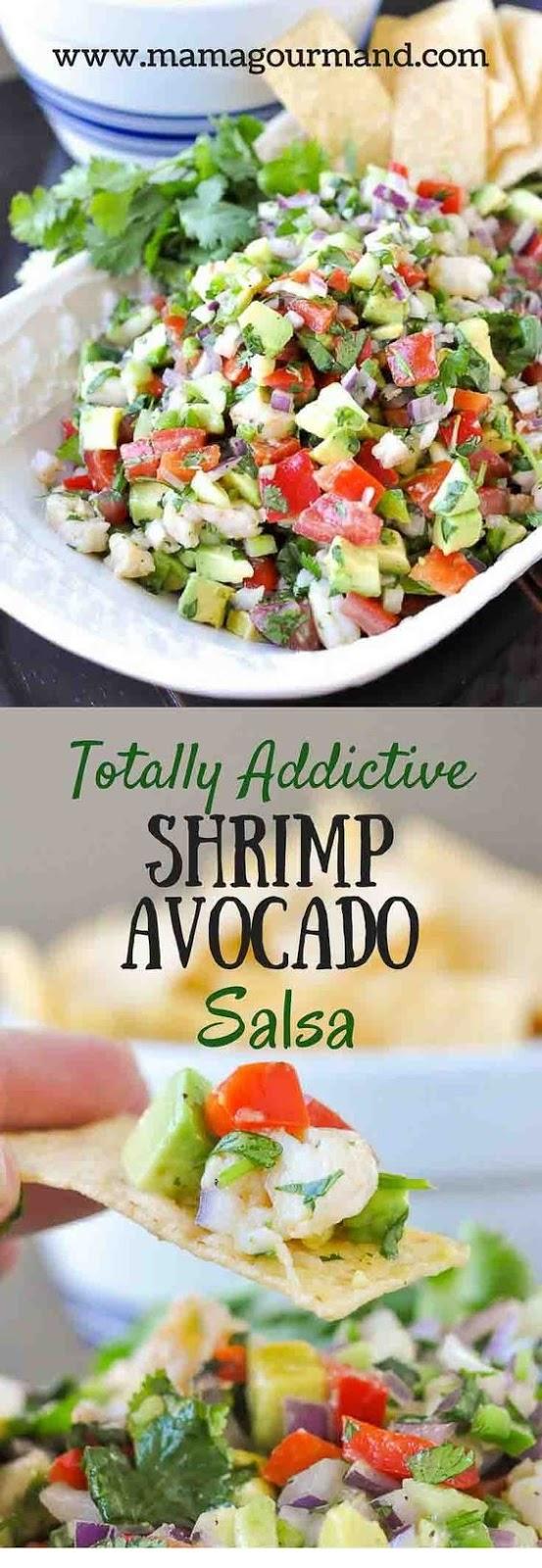 Totally Addictive Shrimp Avocado Salsa
