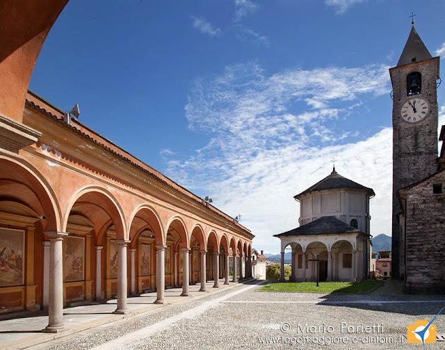 Va crucis,battistero e campanile a Baveno