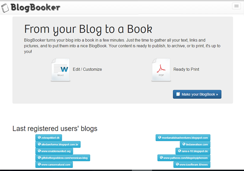 BlogBook is an easy-to-use tool to convert blog to PDF files