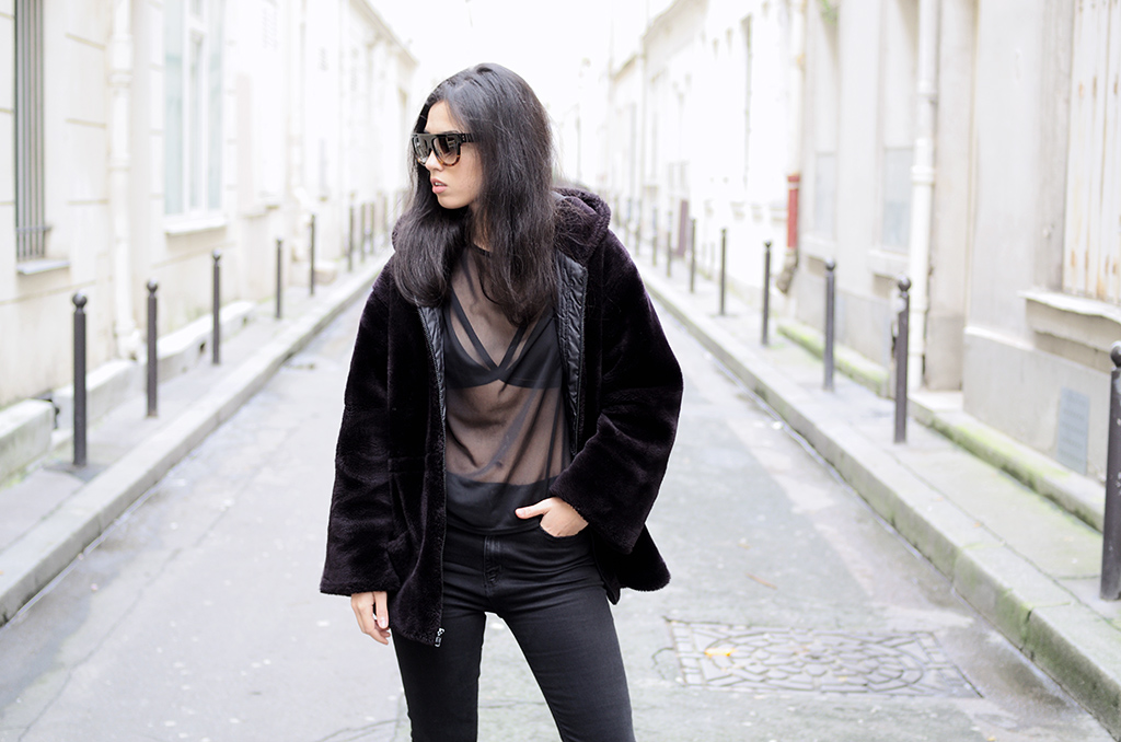 Elizabeth l Black on black outfit blog mode l Zara Missguided Forever21 l THEDEETSONE l http://thedeetsone.blogspot.fr
