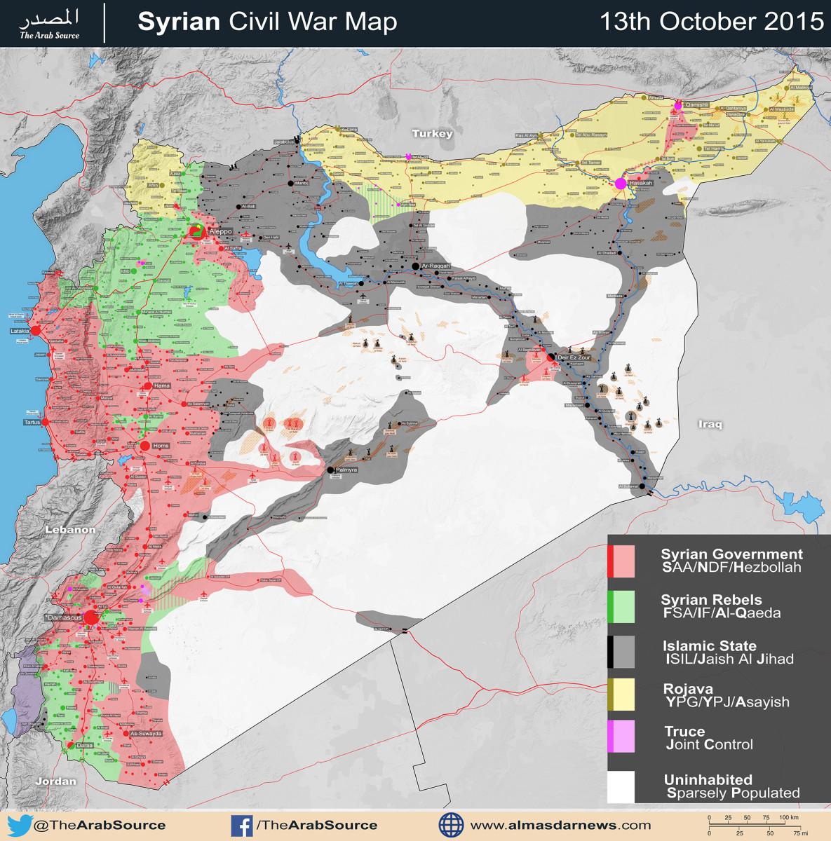 Syrian civil war map (13 october 2015)