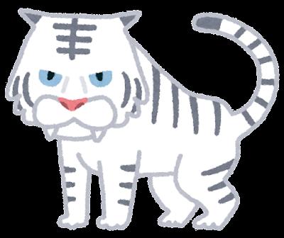 白虎(四聖獣)・ホワイトタイガーのイラスト