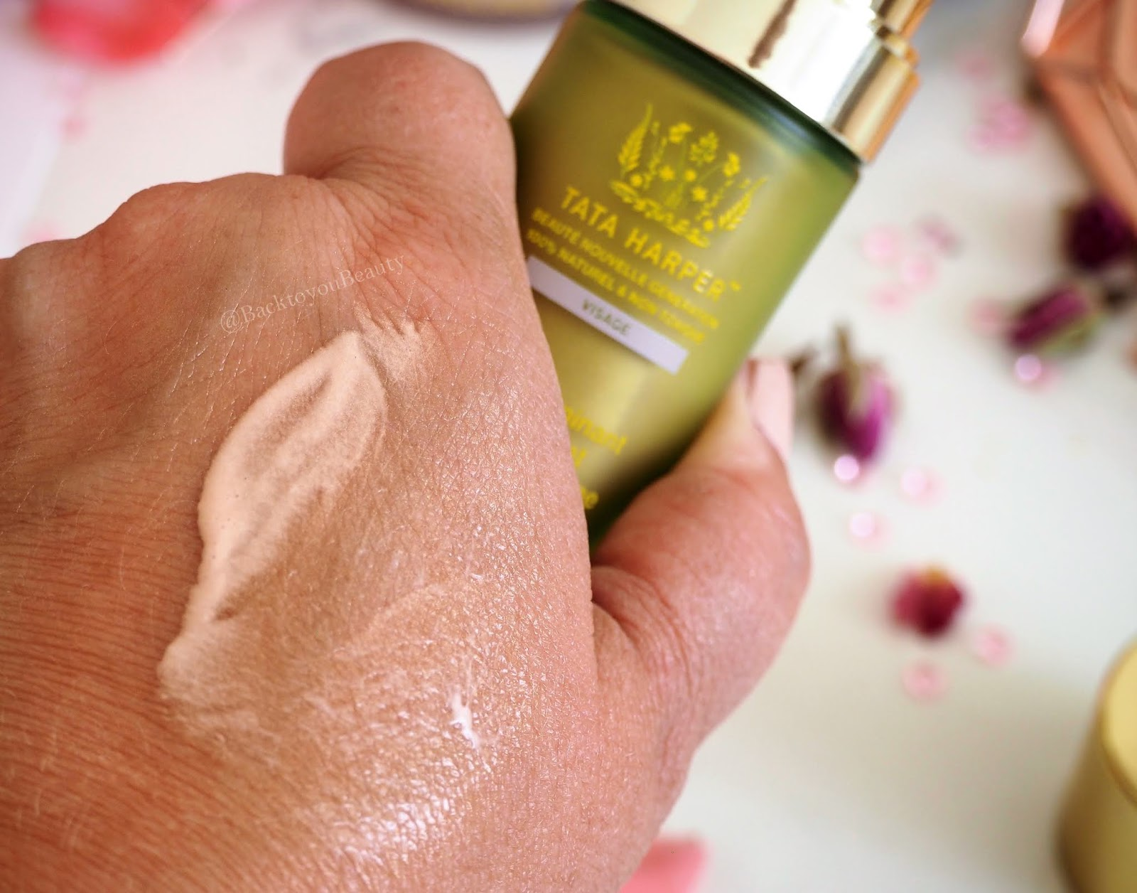 Tata Harper Illuminating Moisturizer with Diamond Radiance swatch