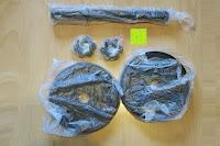 Verpackung: 1 Kurzhantel Hantelstange + 2 Hantelscheiben aus 100% Gusseisen / Sternverschluss / in 1,25kg 2,5kg 5kg oder 10kg / 30mm Bohrung / Mattschwarz / In unterschiedlichen Varianten