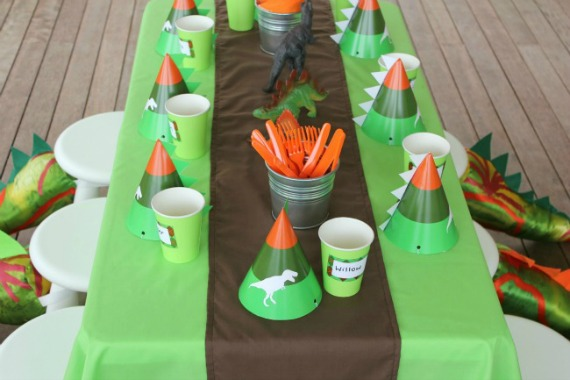 Dinosaur Party Idea Kids Party Printables Printable Invitation Invite Party Hats Cupcake