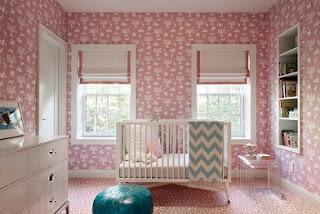 dormitorio bebé rosa y gris