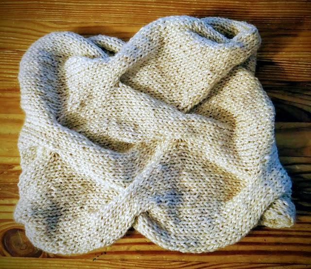 I knit another Burberry cowl with Berroco's Ginko silk/wool yarn.