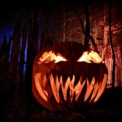 Halloween New England visits Haunted Overload _ Carved Pumpkin