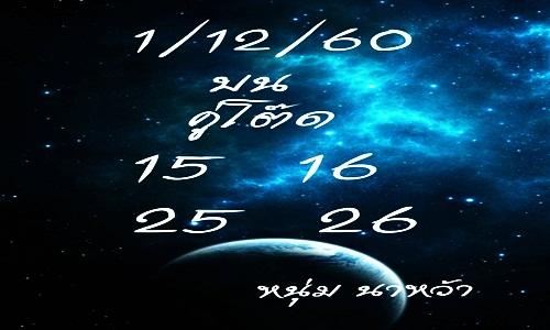เลขเด็ด หนุ่มนาหว้า  งวดวันที่ 1/12/60