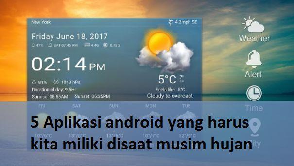 5 Aplikasi android yang harus kita miliki disaat musim hujan.